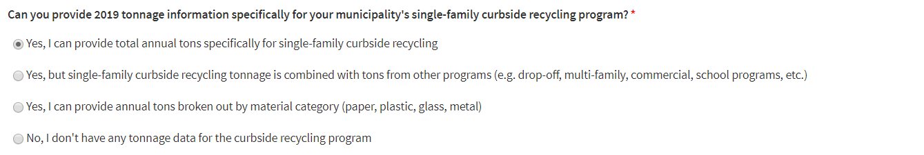 SF Curbside Recycling Tonnage